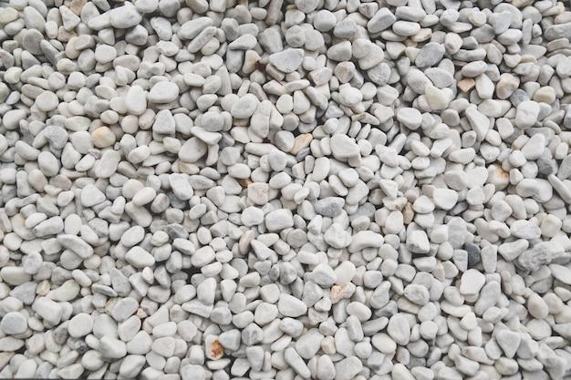 Textura de pedras decorativas brancas