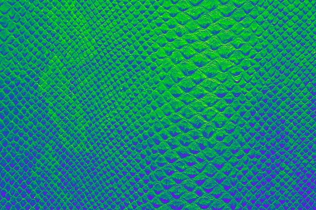 Textura de pele de cobra verde esmeralda
