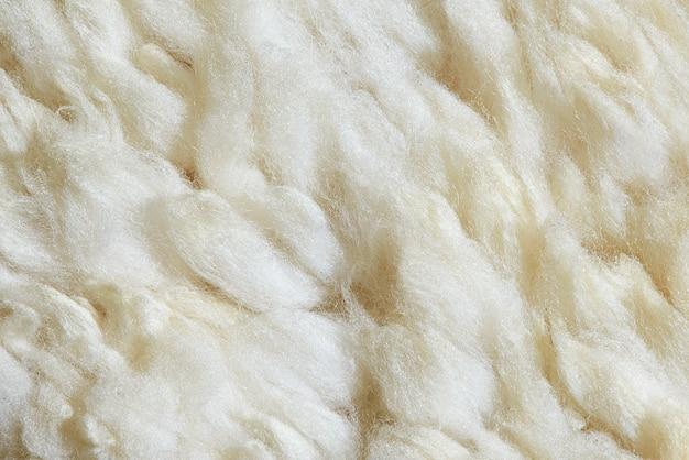 Textura de pele de ovelha macro.