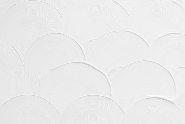 Textura de pincelada curva branca