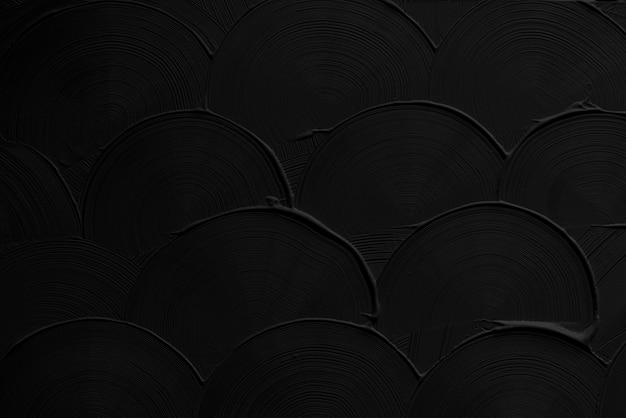 Textura de pincelada curva preta
