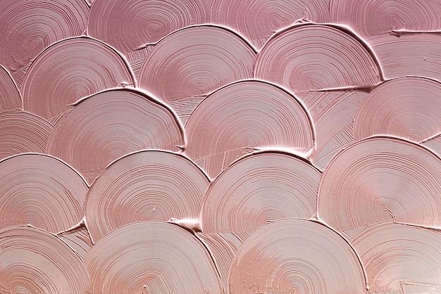Textura de pincelada curva rosa