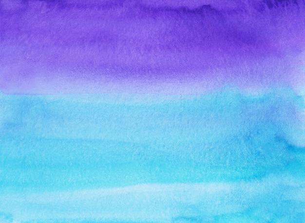 Textura de pintura de fundo azul e roxo em aquarela