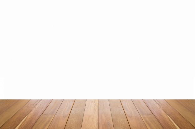 Textura de piso de madeira na cor marrom claro, isolada no fundo branco