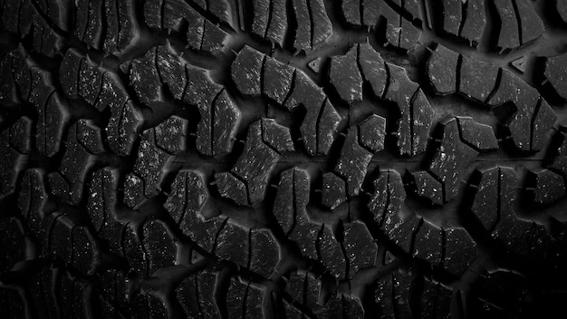Textura de pneu de um fundo de caminhão de estrada