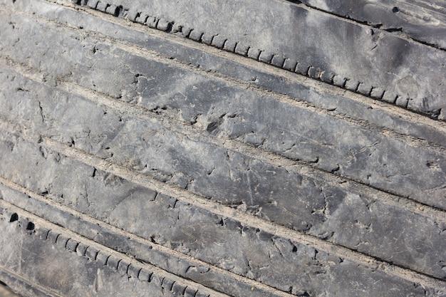 Textura de pneus velhos