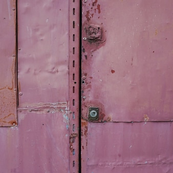 Textura de porta metálica