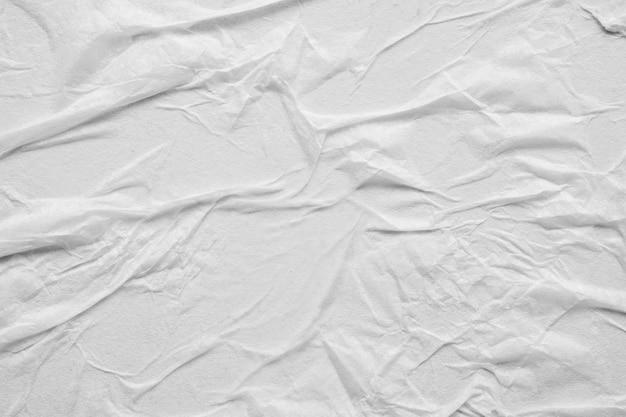 Textura de pôster de papel branco amassado e amassado
