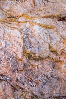 Textura de rocha com depósitos de enxofre