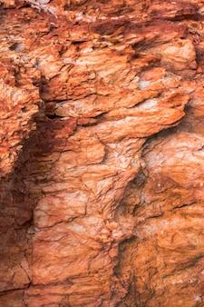Textura de rocha com depósitos de minério de ferro e cobre
