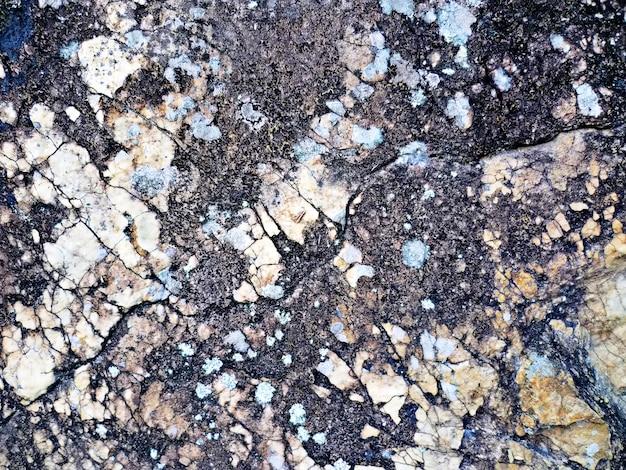 Textura de rocha com pigmentações pretas