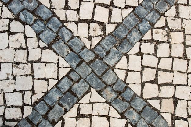 Textura de rua de paralelepípedos