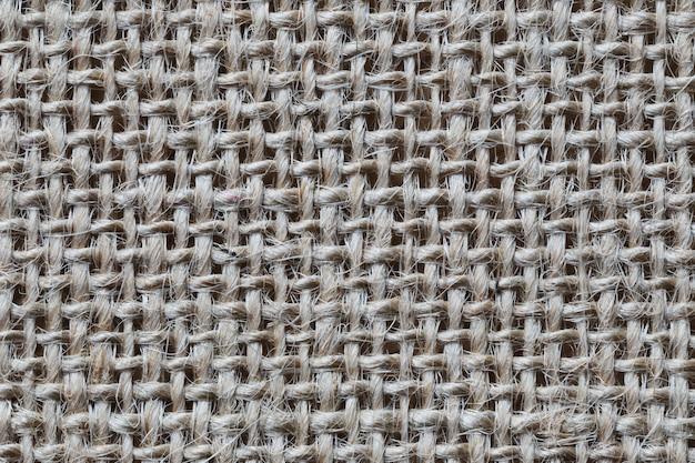 Textura de saco de cânhamo marrom.