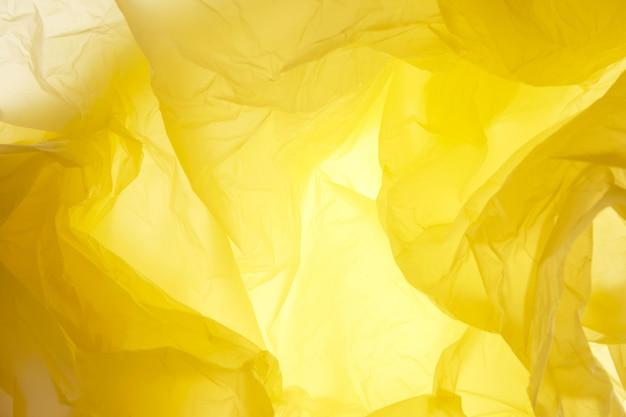 Textura de saco de plástico amarelo
