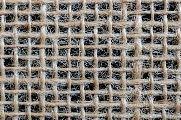Textura de saco. tecido de fibra de juta