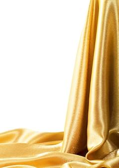 Textura de seda de tecido dourado