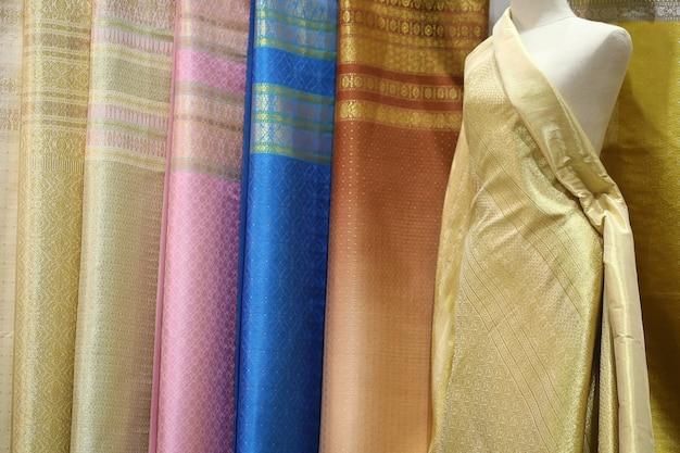 Textura de seda, estilo tailandês