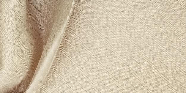 Textura de seda, onda, cortina, tecido, organza, bege claro, 3d, ilustração