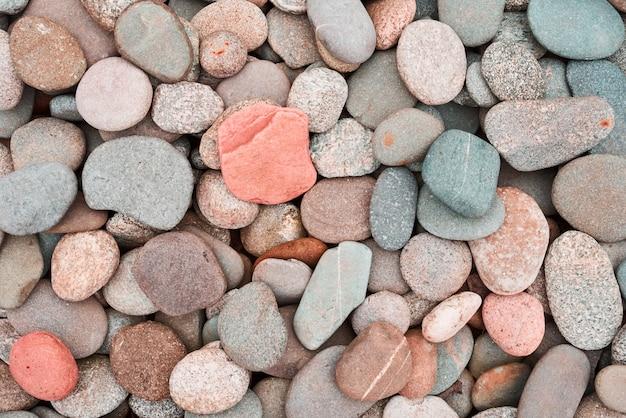 Textura de seixos. pedras redondas coloridas
