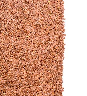 Textura de semente de linho marrom assada ou linhaça