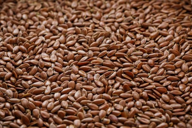 Textura de sementes de linho marrom escuro.