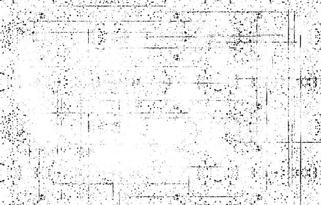 Textura de sobreposição de socorro grunge preto e branco. superfície de poeira abstrata e parede áspera e suja