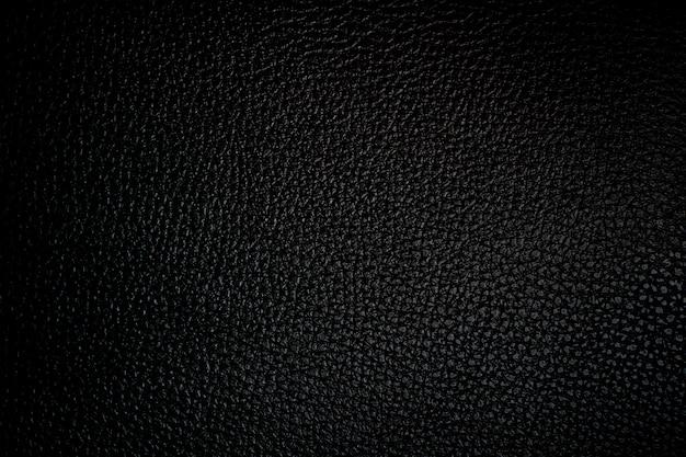 Textura de sofá em pele preta