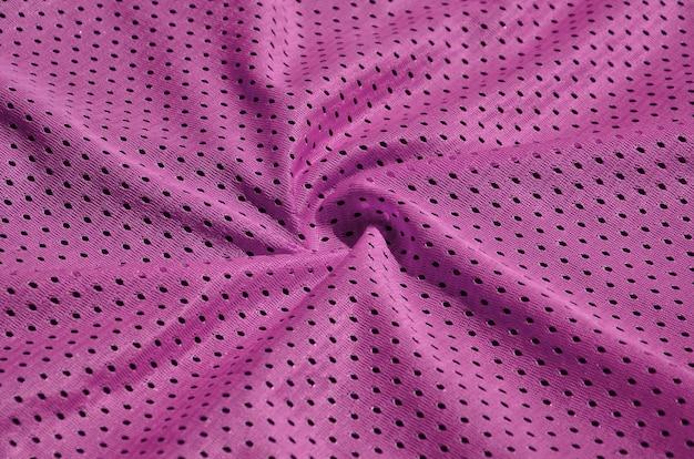 Textura de sportswear feito de fibra de poliéster. outerwear para treinamento esportivo tem uma textura de malha de tecido de nylon elástico