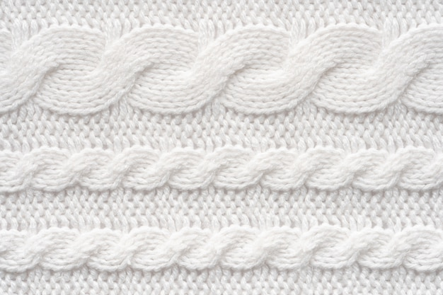 Textura de suéter de lã branca