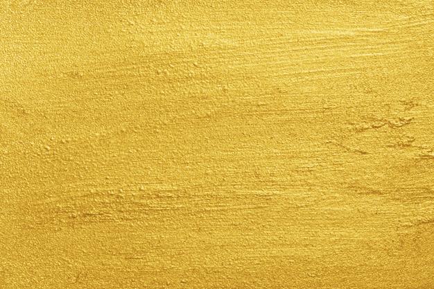 Textura de superfície áspera pintada amarela metálica dourada