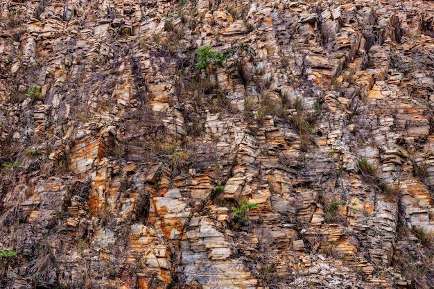 Textura de superfície natural do granito da parede de pedra. close da superfície estrutural.