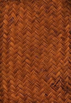 Textura de tapete de bambu trançado