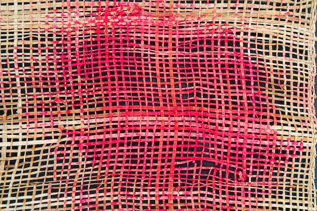 Textura de tecelagem grossa