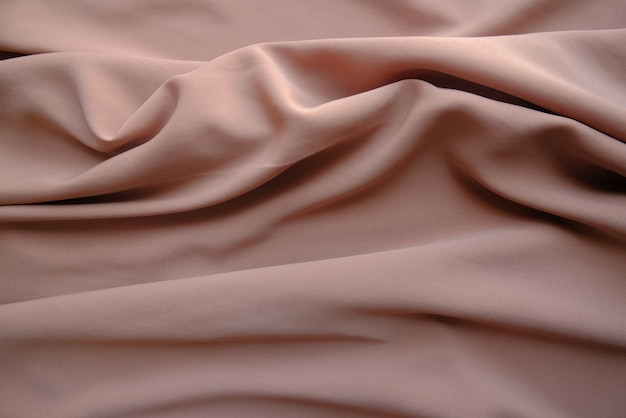 Textura de tecido amassado na cor cinza claro