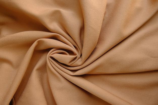 Textura de tecido amassado na cor latte