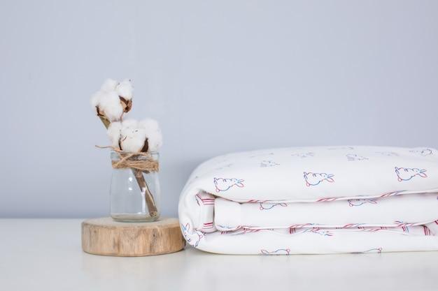 Textura de tecido branco
