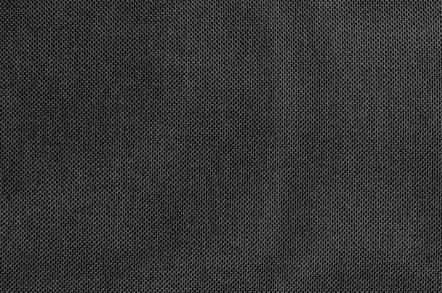 Textura de tecido cinza preto para o fundo