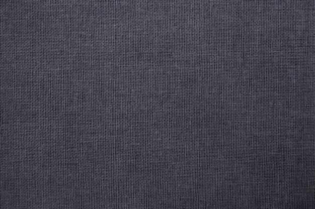 Textura de tecido de algodão cinza, padrão sem emenda de têxteis naturais.