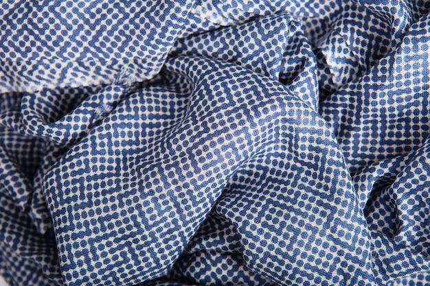 Textura de tecido de bolinhas azuis