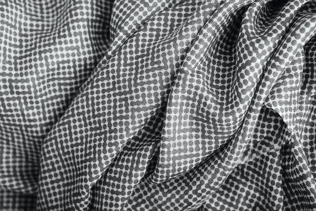 Textura de tecido de bolinhas cinza
