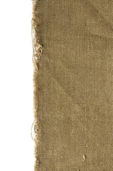 Textura de tecido de borda de lona antiga para fundo antigo