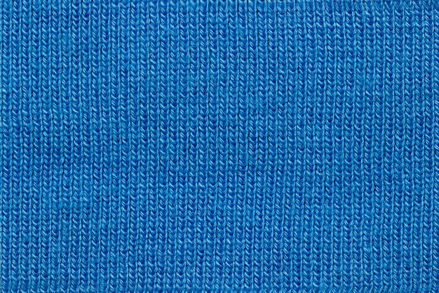 Textura de tecido de jaqueta azul