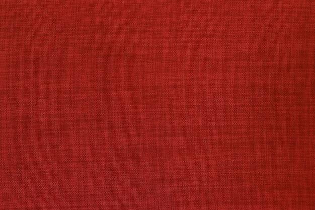 Textura de tecido de linho vermelho escuro com padrão sem emenda.