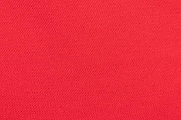 Textura de tecido de sarja vermelho natural, close-up