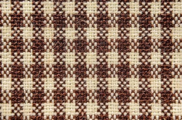 Textura de tecido em uma gaiola