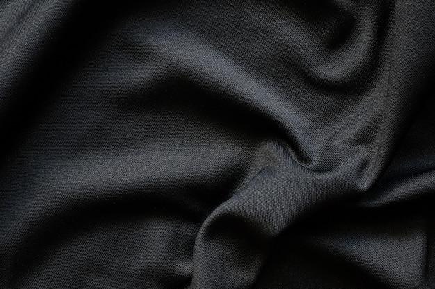 Textura de tecido luxuoso de tecido preto