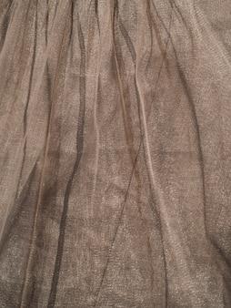 Textura de tecido marrom close-up