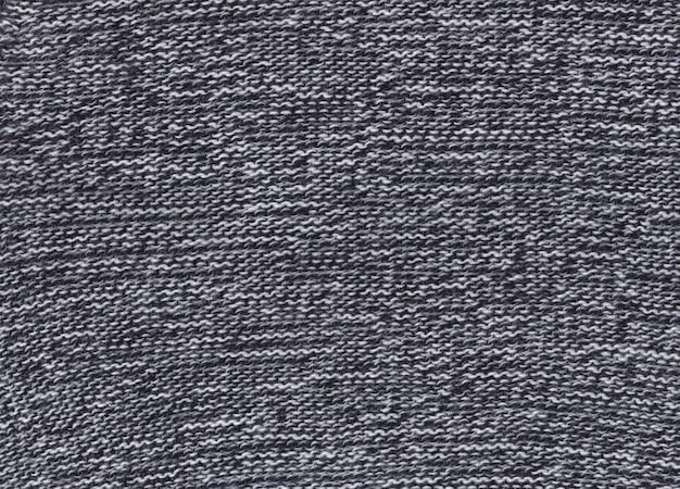 Textura de tecido preto e branco de malha.