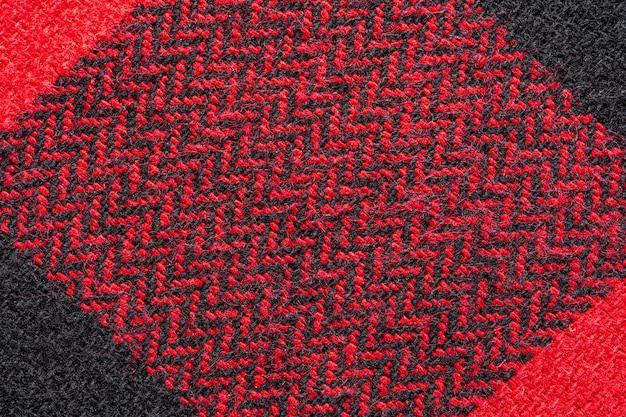 Textura de tecido preto e vermelho