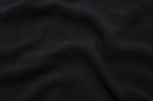 Textura de tecido preto, pano de fundo.
